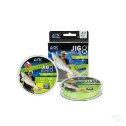 ZSINÓR L&K JIG BRAID 0,18MM 10.3 KG 110M LIME GREEN