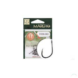 MARUTO HOROG 8356-BD CARP HOOKS BARBED FORGED STRAIGHT EYE HC  BLACK NICKEL 6